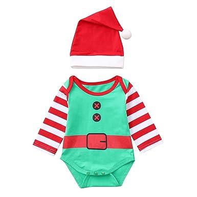 f66343a733cd Amazon.com  FTXJ 2PCS Infant Baby Girls Boys Long Sleeve Striped ...
