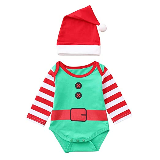 4bed6810f Amazon.com  AMSKY Adorable Christmas Infant Baby Boy Girls Long ...
