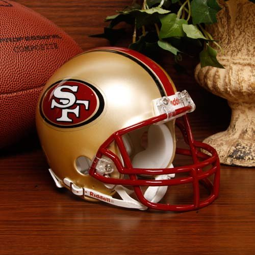 - Riddell NFL San Francisco 49ers Helmet Replica Mini VSR4 Style 1996-2008 Throwback, One Size, Team Color