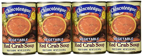 Chincoteague Seafood Vegetable Red Crab Soup, 15-Ounce Cans (Pack of 12)