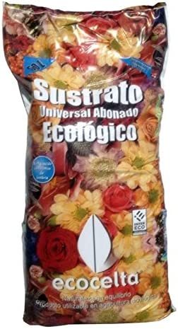 Ecocelta Sustrato Universal ecológico 50 l, Negro, ZA35: Amazon.es ...