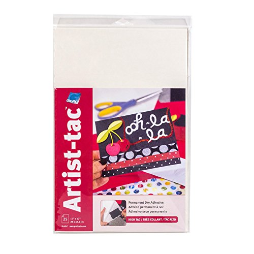 Grafix KATP1117-25 Artist-Tac Permanent Dry Adhesive Sheets 11-Inch by 17-Inch 25 Sheet Package (Artist Sheets)