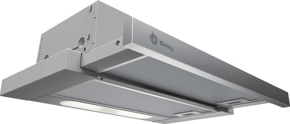 Balay 3BT730XP Campana extractora de pared, 100 W, Acero Inoxidable, 3 Velocidades: Amazon.es: Hogar