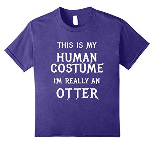 Kids Funny Otter Costume Halloween Shirt Easy for Women Men Kids 10 (Best Easy Group Halloween Costumes)