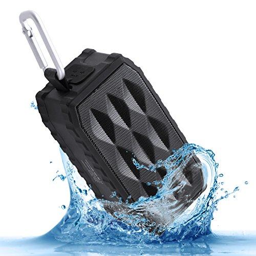 MARSEE ZeroX Bluetooth Speakers with 8 Watt Drivers,IPX6 Waterproof Shockproof,2000 Ah Rechargeable Battery & Built-in Mic, Dual-Driver Wireless Portable Waterproof Speakers