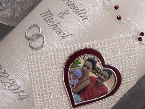 Hochzeitskerze Kerze Hochzeit Fotokerze Foto Sonderform 16738