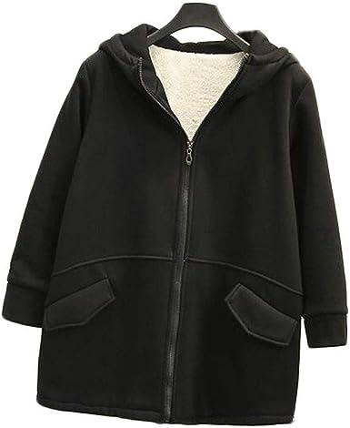 Abrigo de algodón cálido para Mujer Abrigo con Capucha Chaqueta ...