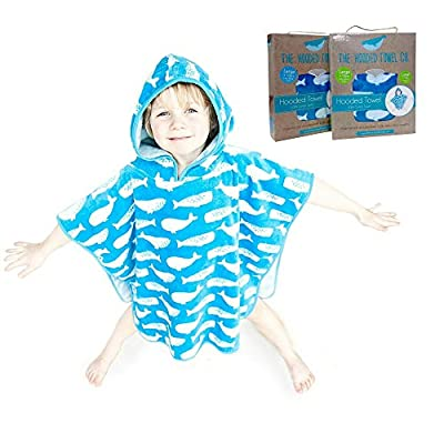 Super Soft And Thick Kids Hooded Poncho Towel For Boys And Girls Aged 1-10 years Large And Small Sizes Ideal from Beach Time To Bath Time
