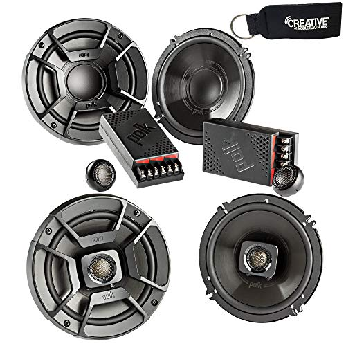 Polk Audio – A Pair of DB6502 6.5″ Components and DB652 6.5″ Coax Speakers – Bundle Includes 2 Pair