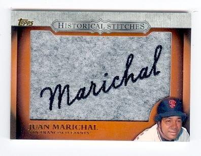 Juan Marichal baseball card (San Francisco Giants) 2012 Topps Historical Stitches Patch card #HS-JM (JD67) from Autograph Warehouse