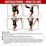 Sleeve Stars Knee Support Brace with Neoprene Compression Stabilizer, Open Patella & Adjustable Straps for Basketball, Arthritis, Running and Hiking