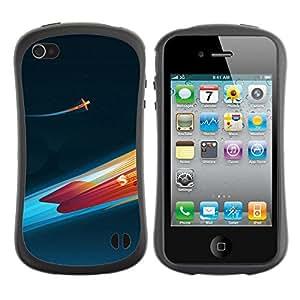 Pulsar iFace Series Tpu silicona Carcasa Funda Case para Apple iPhone 4 / iPhone 4S , Fire rocket