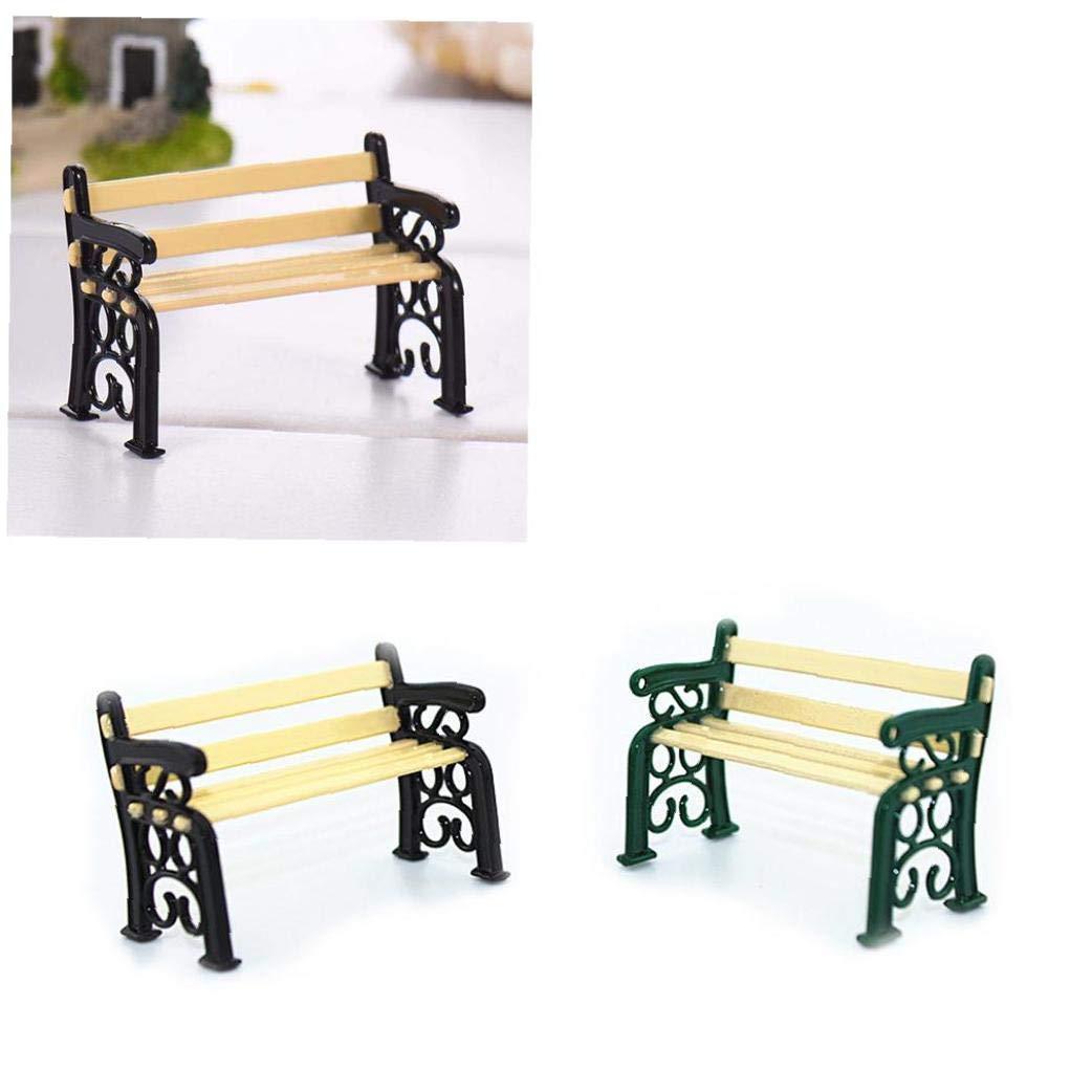 i mobili della panchina del parco per i bambini della casa di bambola del