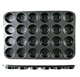 USA Premium Store Nonstick Muffin Cupcake Baking Pan - 24 Standard 3 inch Cups Stainless Steel