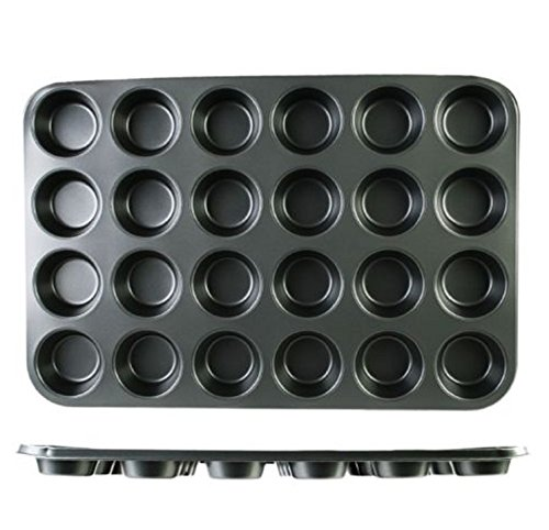 USA Premium Store Nonstick Muffin Cupcake Baking Pan - 24 Standard 3 inch Cups Stainless Steel by USA Premium Store