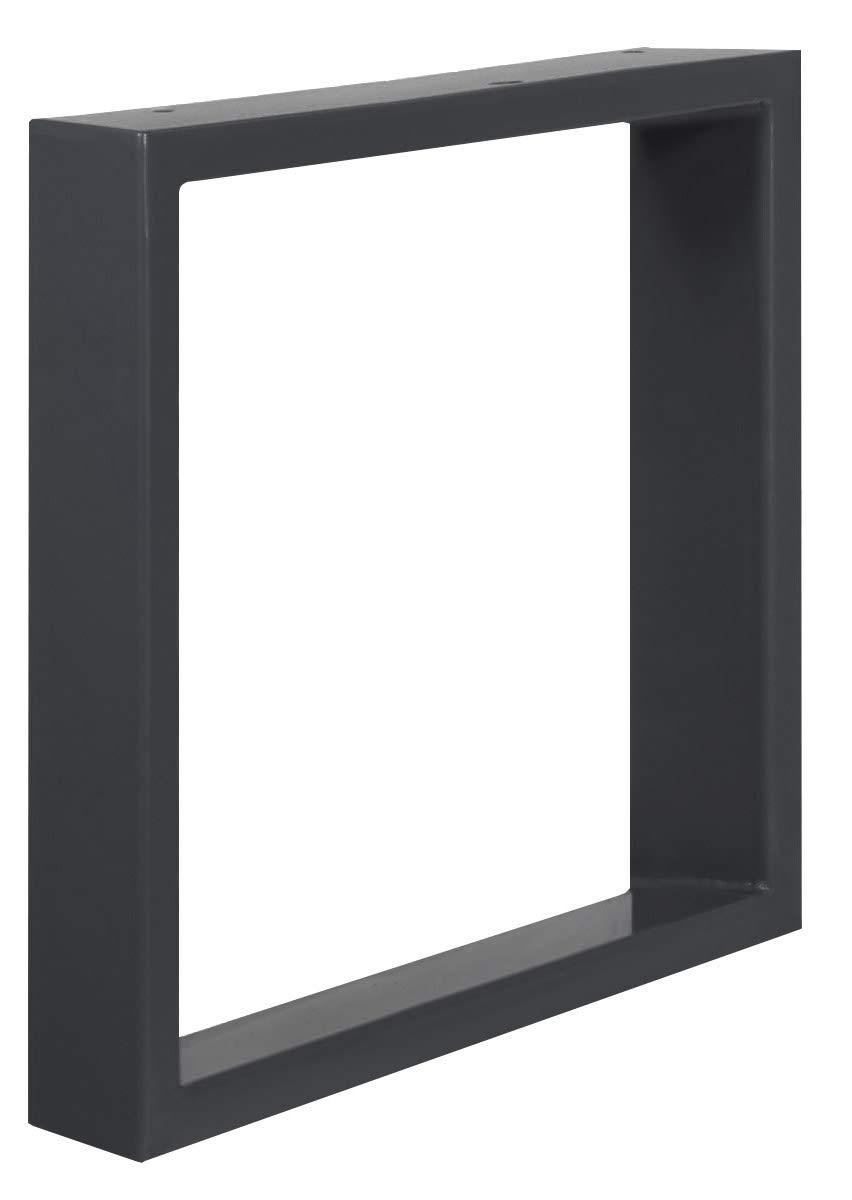 1 Pieza HOLZBRINK Patas de Mesa perfiles de acero 80x20 mm Blanco Tr/áfico HLT-01-C-EE-9016 forma de marco 80x72 cm