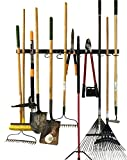 garage tool storage ideas FITOOL Adjustable Storage System 48 Inch, Wall Holders for Tools, Wall Mount Tool Organizer, Garage Organizer, Garden Tool Organizer, Garage Storage
