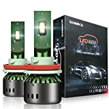 SUNMEG LED Headlight Bulbs H11/H8/H9, 60W 8000LM 6000K Cool White, 360 Degree Adjustable Beam All-in-One Conversion Kit, DOT Approved, 50000H Life Span, 2 Yr Warranty