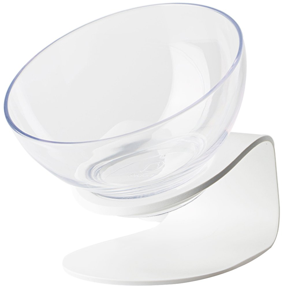 Creation Core Stylish Transparent Slanted Tilted Cat Bowl Cat Slow Feeder by Creation Core