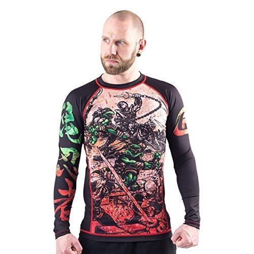 Fusion Fight Gear TMNT Book One BJJ Rash Guard Compression Shirt (XXL) rash guard mens bjj 4