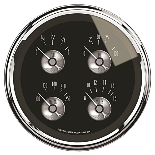 - Auto Meter 2012 Prestige Series Black Diamond Quad Gauge