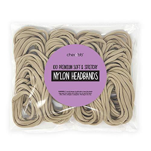 Nylon Headbands for Baby Girls - Craft DIY Hair Bows - Bulk 100 Bands
