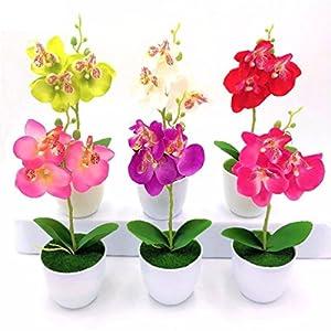 1PC Butterfly orchid artificial flower bonsai 3 flowers simulation flores 5