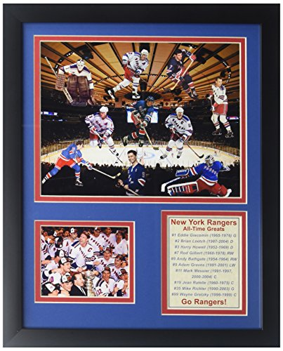 Legends Never Die NHL New York Rangers All Time Greats Double Matted Photo Frame, 12