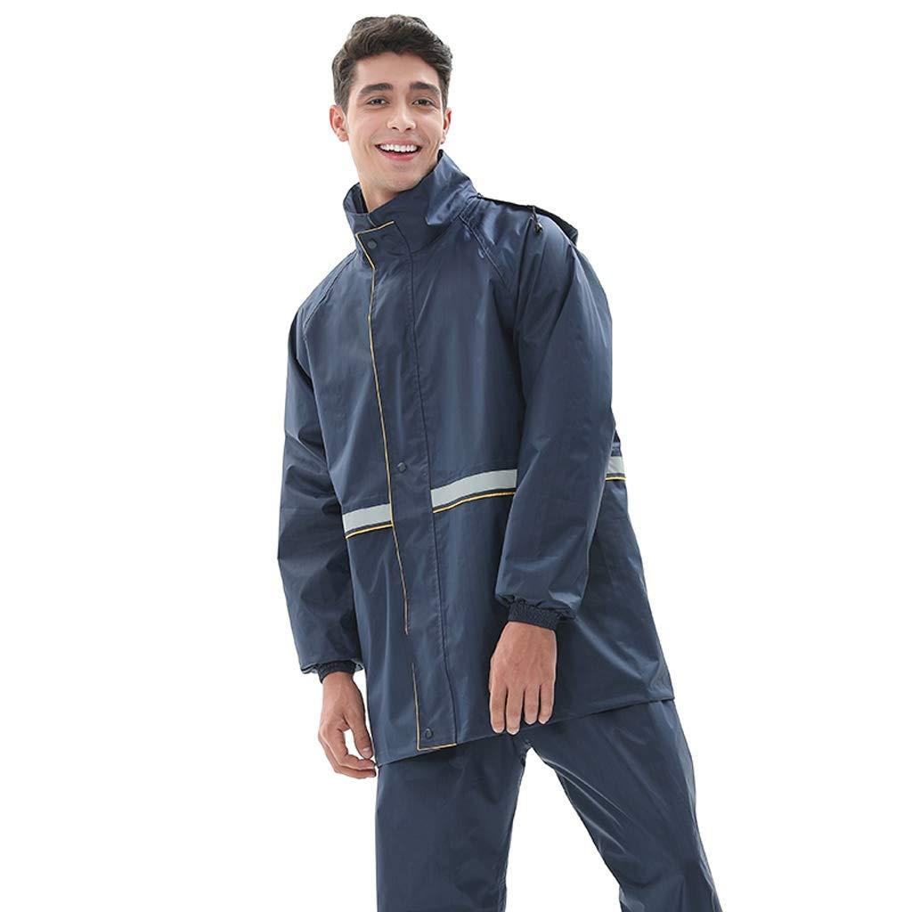 Jujube XXXL Yu Tonga Ensemble imperméable Antistatique, Double Manteau imperméable Coupe-Vent d'équitation extérieure pour Adultes à Double reflet