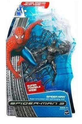 Marvel Super Poseable Black Spider-Man Figure Spider-Man 3 Movie Series 1 -