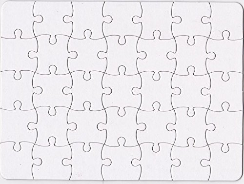 Nextnol 35 PCS Blank Puzzle,White DIY Puzzle,Custom Jigsaw Puzzle,Blank Jigsaw Puzzle,Size:8.5 inch and 11 inch. ()