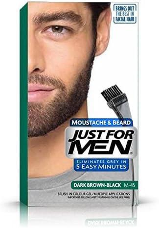 Just For Men Brush In Colour Gel Dark Brown (M45) Facial Hair Colour