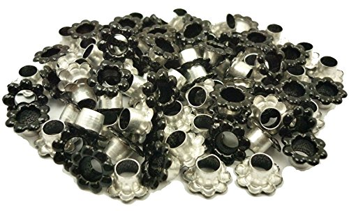 ARTS AND CRAFTS SUPPLIES 100pcs Aluminium Black Flowers Eyelet Scrapbooking Card Hole LeatherCraft Snap Punch E094