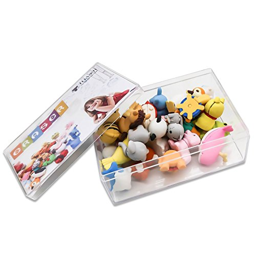 TOAOB 28pcs Adorable Puzzle Animals Erasers Non-Toxic for Kids Fun Games and Collection with Plastic Box by TOAOB (Image #7)