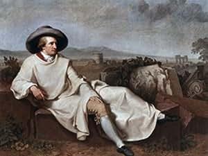 Johann Heinrich Wilhelm Tischbein – Goethe in the Roman Campagna 1787 Johann Heinrich Wilhelm Tischbein (1751-1829 German) Oil on canvas Artistica di Stampa (45,72 x 60,96 cm)