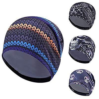Wingbind Men's Skull Cap Helmet Liner Cycling Caps Runing Sports Beanie Covers Ears and Wicks Moisture Perfect for Under Helmet