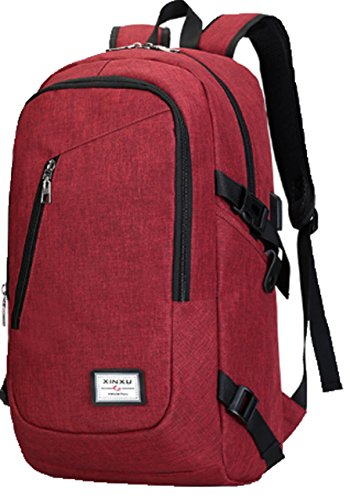 (Zzfab Oxford Cloth Water Resist Light Weight Laptop Back Pack Travel Backpack with USB Port)