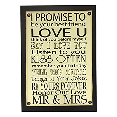 Creative Motion I Promise to Love U Sign