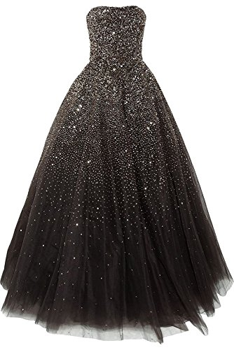 Lovelybride Amazing Strapless Beaded Prom Dress Long Formal Evening Gowns