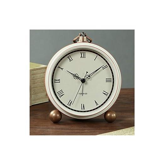 Aishanghuayi-ou Despertador, Reloj de Alarma pequeño de Metal ...