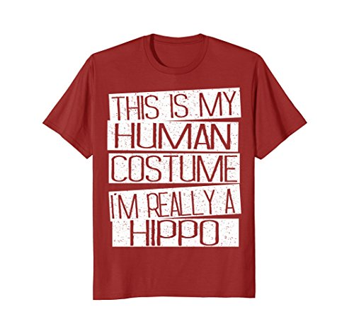 Mens This Is My Human Costume I'm Really A Hippo T-Shirt Medium -