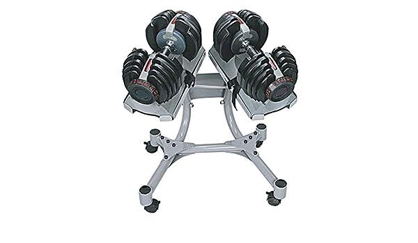 SET 2 Mancuernas Profesional ajustables de 24 kg. 552 con soporte: Amazon.es: Deportes y aire libre