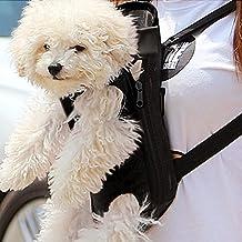 Amzdeal Pet Front Carrier Bag Backpack Legs Out (Black,Medium)
