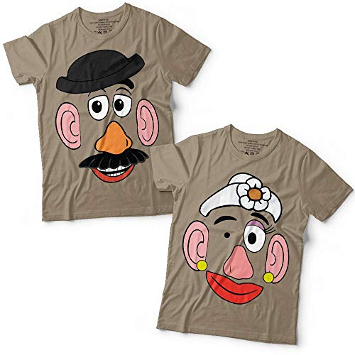 Potato Head Mr/Mrs Couple Toy Halloween Costume Group Matching Customized Handmade T-Shirt Hoodie/Long Sleeve/Tank Top/Sweatshirt -