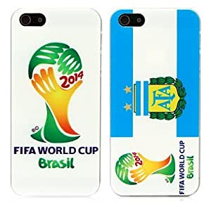 2016 plus FIFA Brazil World Cup Multi National Logo Hard Case Back Cover Case For Iphone 6 plus Cover G (White)