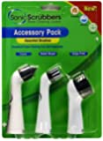 SonicScrubber - Accessoires du ménage, lot de 3 têtes de brosse