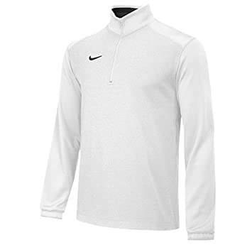 nike 1 4 zip pullover. new nike dri-fit team sideline 1/4 zip pullover top white / black 1 4 s
