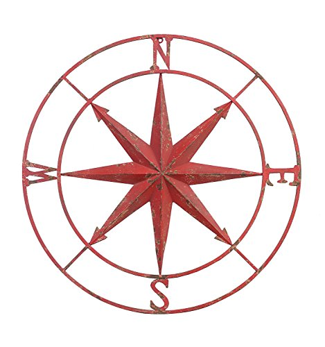 Creative Co Op Round Metal Compass