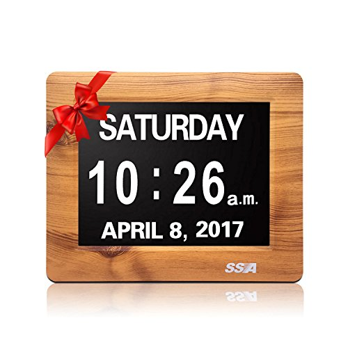SSA Factory Directly Extra-Large Memory Loss Digital Calendar Day Clock with Extra Large Non-Abbreviated Day & Month. Perfect for Seniors (7