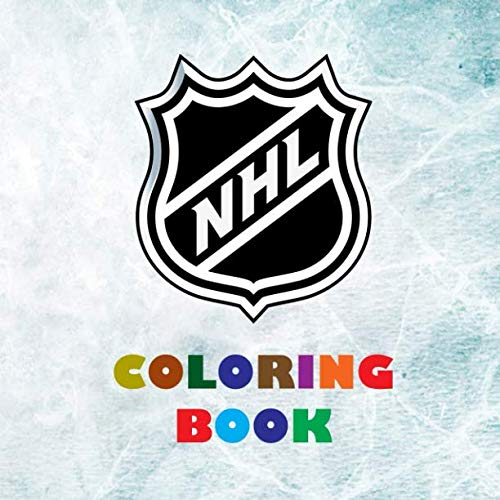 - NHL Coloring Book: Super book containing every team logo from the NHL for you to color in - Original birthday present / gift idea.